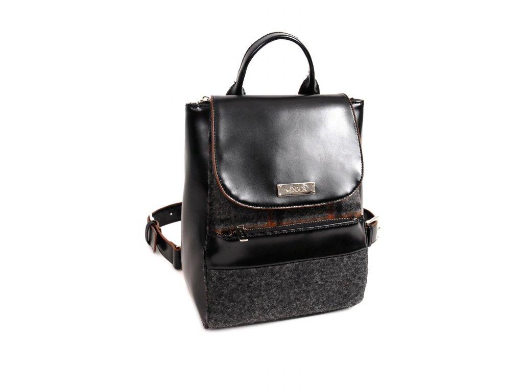 Dámsky batoh DOCA 14331 čierny 1 kabelky.sk