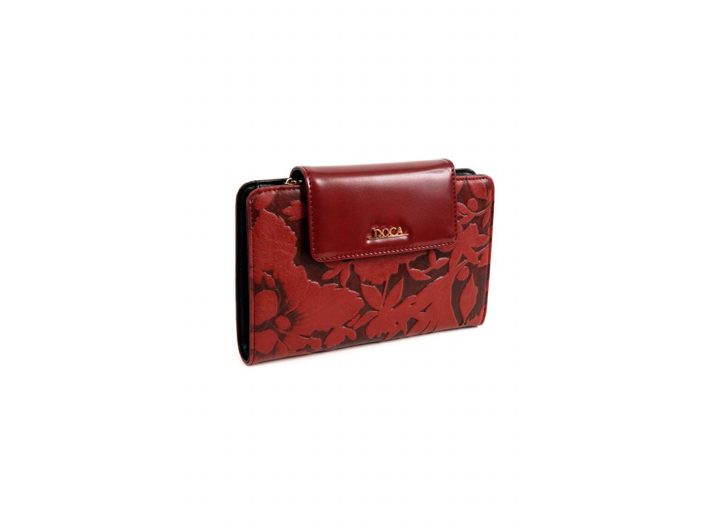 Peňaženka DOCA 65178 burgundy 1 kabelky.sk