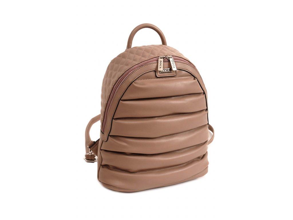 7f64301833 Dámsky batoh DOCA 14352 béžový 1 kabelky.sk