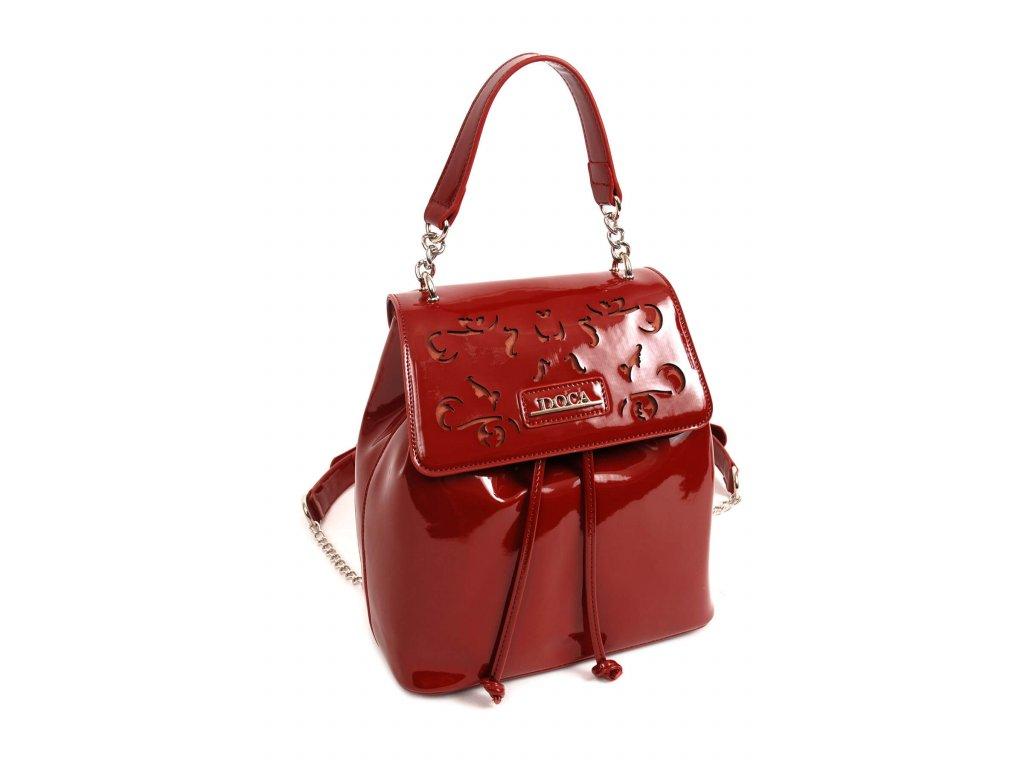 Dámsky batoh DOCA 13850 červený 1 kabelky.sk