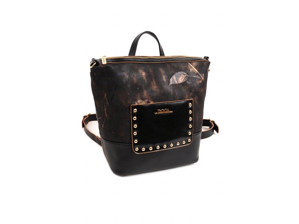 e72e22c2d95f6 Dámska kabelka a ruksak 2v1 DOCA 13845 - čierna | Kabelky.sk