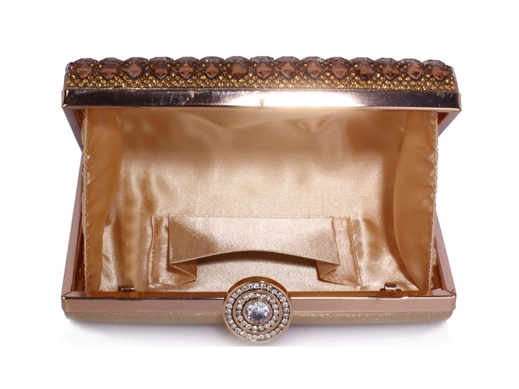 b9d8c372a4333 Spoločenská kabelka Silver - zlatá | Kabelky.sk