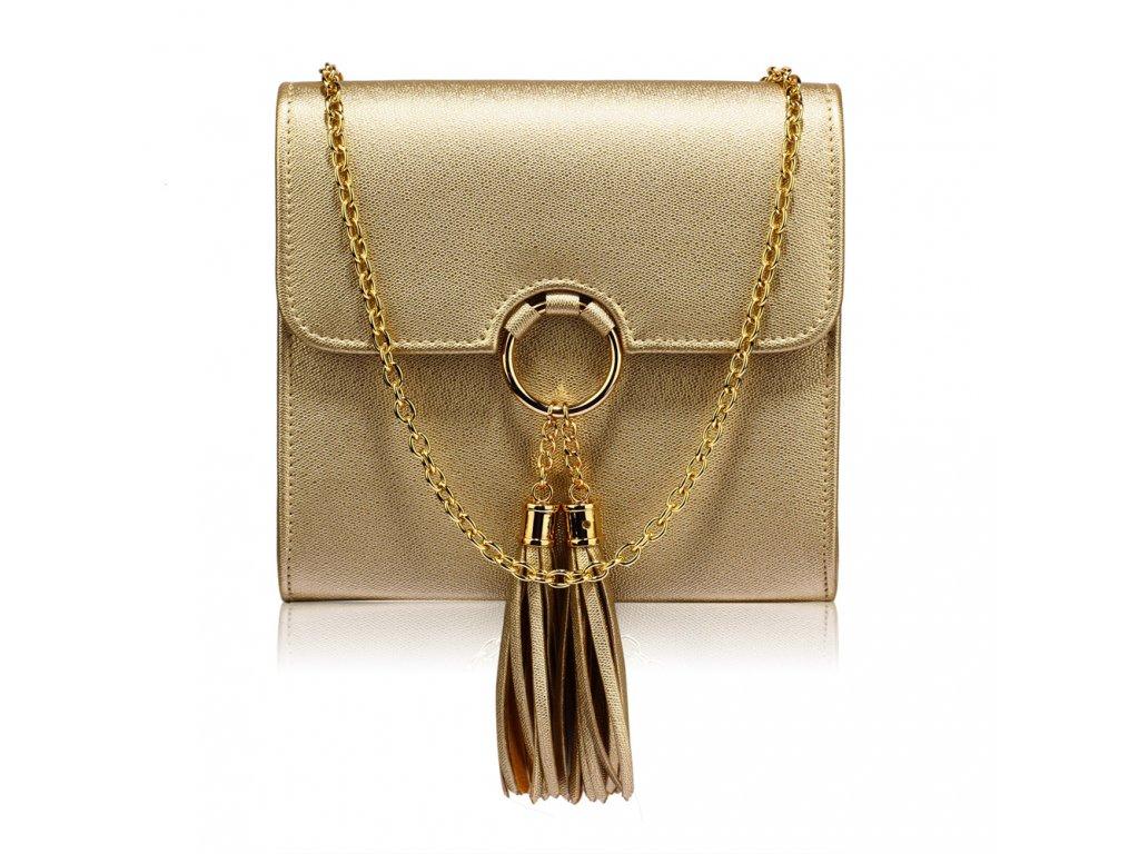 Spoločenská kabelka Normi - zlatá  dc81f6bd809