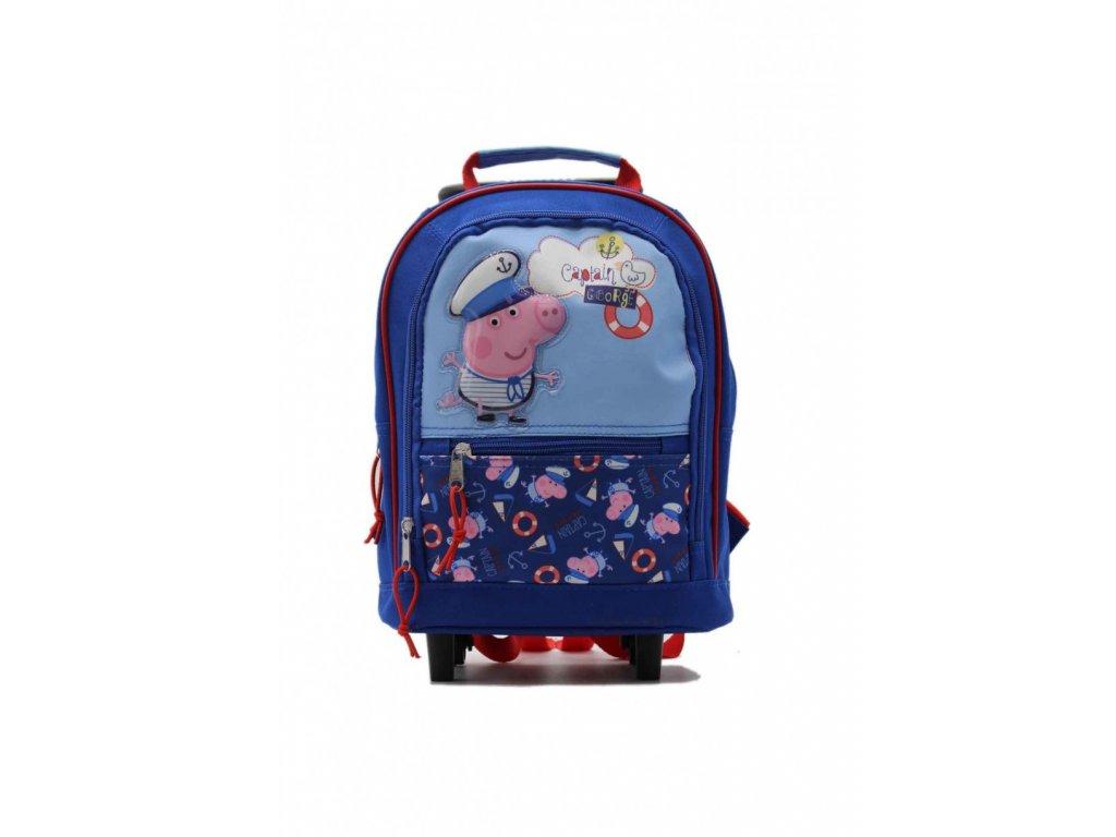 Detský ruksak a kufrík Captain - modrý