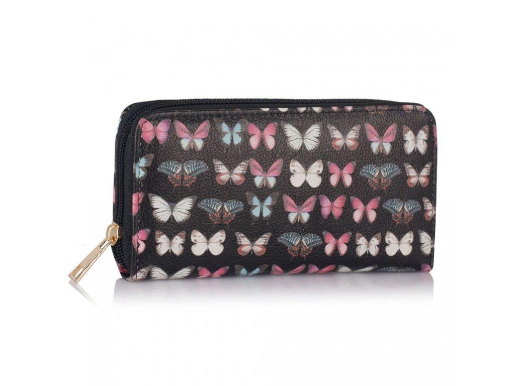 Peňaženka Motýlik - čierna