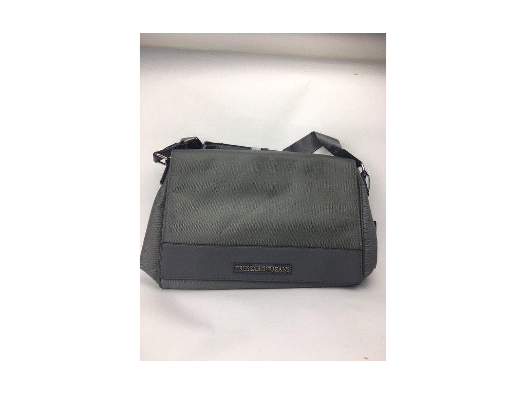 Pánska crossbody taška TRUSSARDI - zeleno-sivá