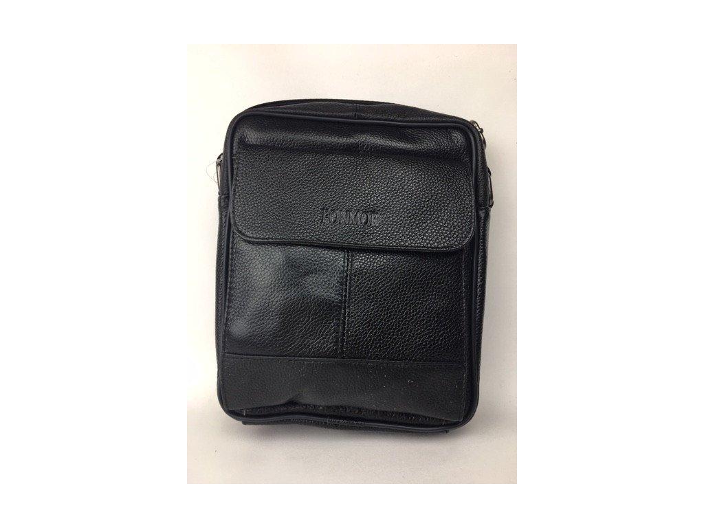 Pánska kožená crossbody taška Fonmor 2 - čierna