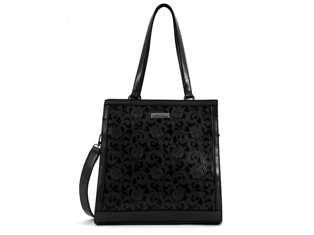 Dámska kabelka DOCA 15143 - čierna