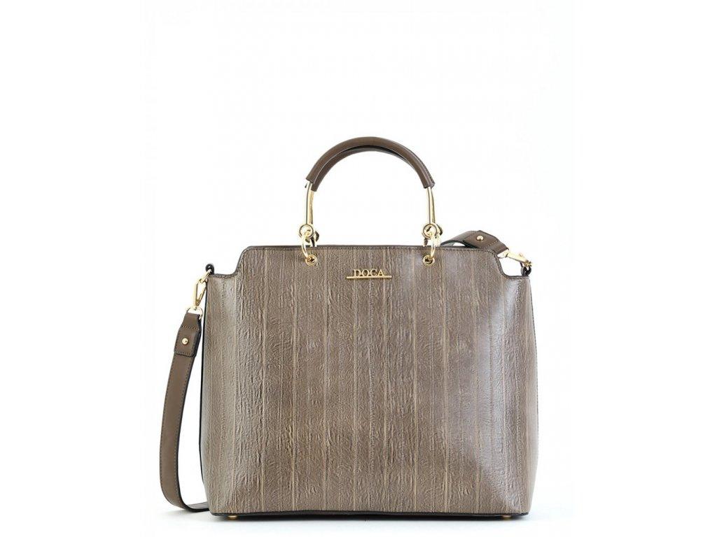 Dámska kabelka DOCA 15308 - sivá