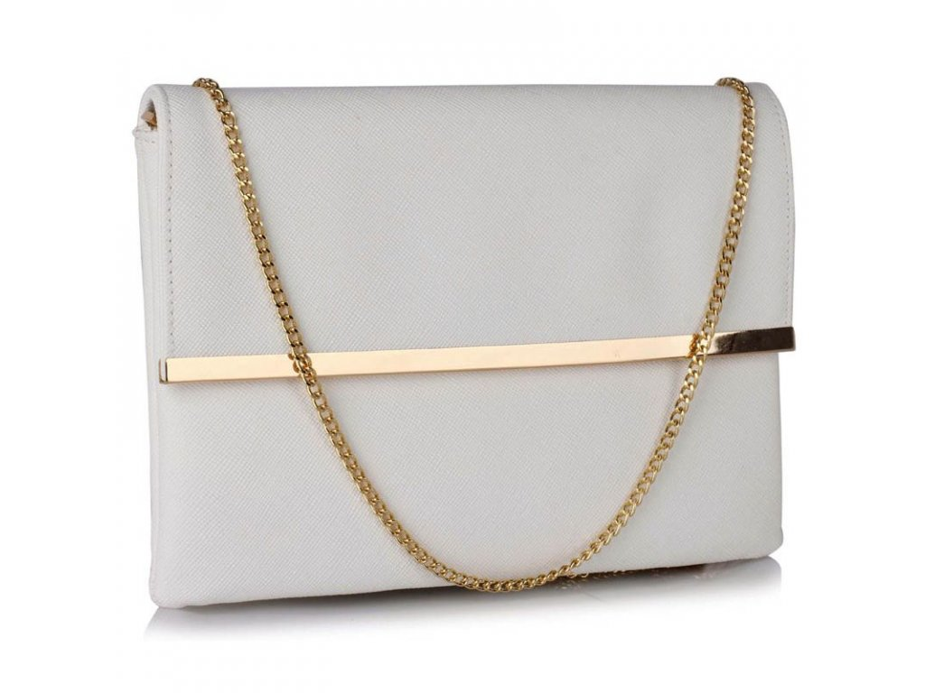 Listová kabelka Larry - biela