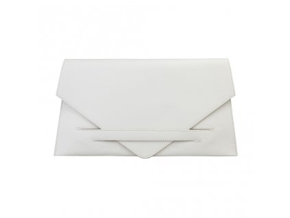 Listová kabelka Made in Italia Costanza - biela krémová