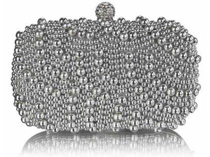 Luxusná kabelka - Pearl - strieborná