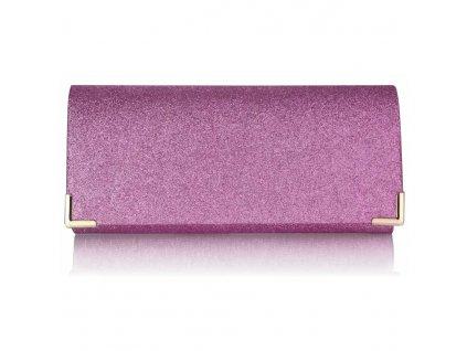 Spoločenská kabelka Glitter - rúžová