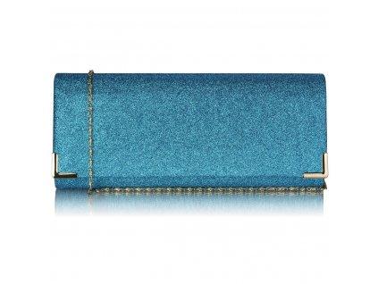 Spoločenská kabelka Glitter - teal zeleno-modrá