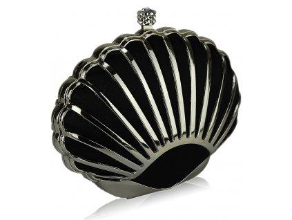 Spoločenská kabelka Shell - čierna