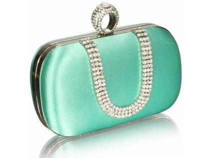 Spoločenská kabelka Naomi - smaragdová
