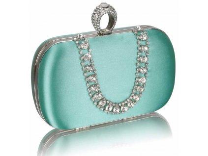 Spoločenská kabelka Naoma - smaragdová