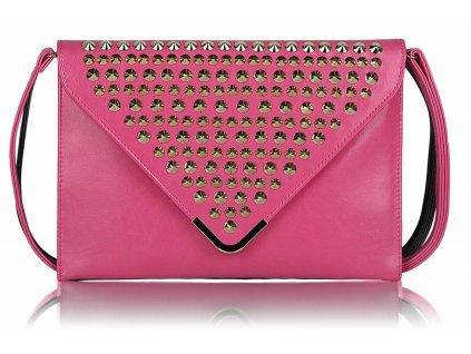 Listová kabelka Slim - ružová