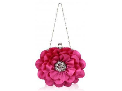 Spoločenská kabelka Kvietok - ružová