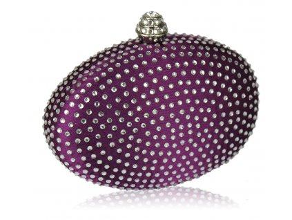 Spoločenská kabelka Diamant - fialová
