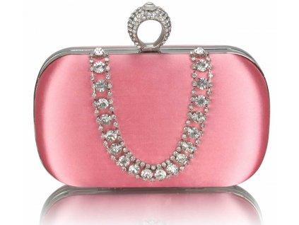 Spoločenská kabelka Naoma - ružová
