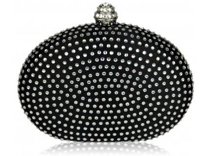 Spoločenská kabelka Hardy - čierna