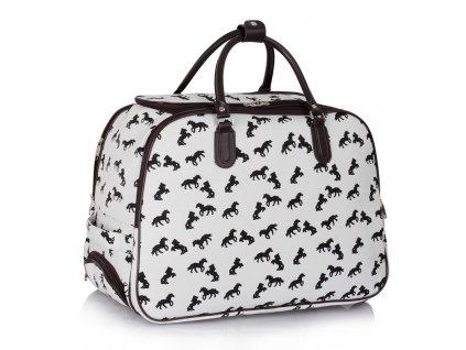 Cestovná taška Horse - biela