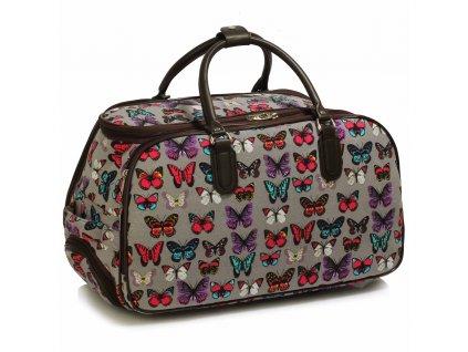 Cestovná taška Butterfly - čierna
