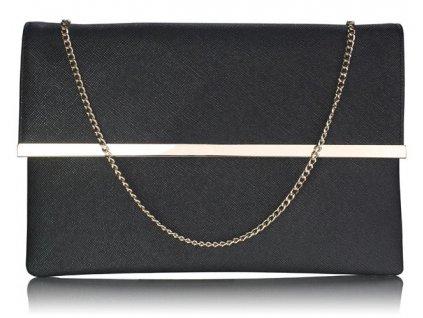 Listová kabelka Larry - čierna