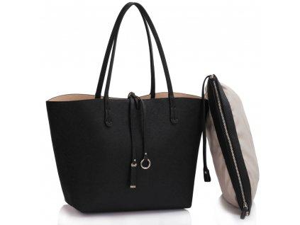 Obojstranná kabelka Reversible - čierna/nude