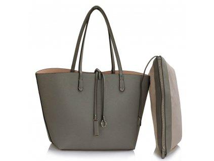 Obojstranná kabelka Reversible sivá/nude