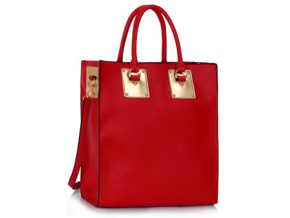 Kabelka Shopper - červená
