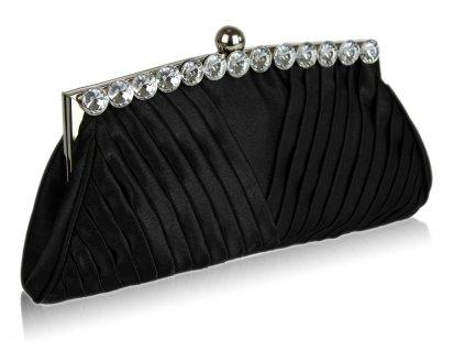 Spoločenská kabelka Ruchy - čierna