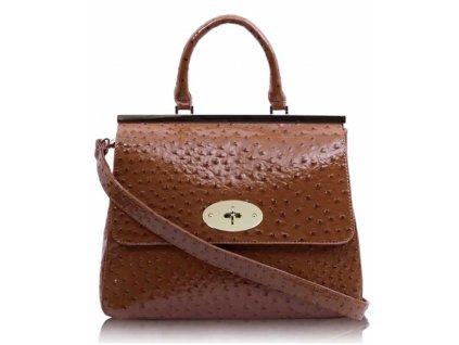 Dámska kabelka Closure - hnedá