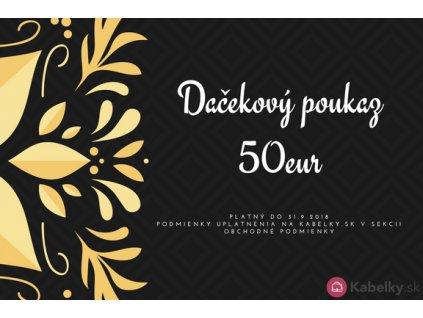 Darčekový poukaz 50eur