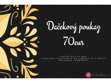 Darčekový poukaz 70eur