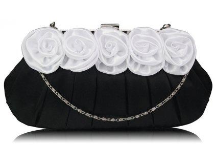 Spoločenská kabelka Nelly - čierna/biela