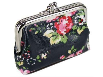 Peňaženka Floral - námornícka modrá