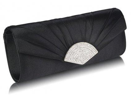 Spoločenská kabelka Štras - čierna