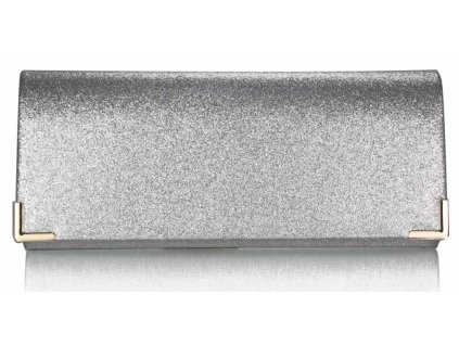 Spoločenská kabelka Glitter - strieborná