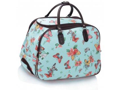 Cestovná taška Butterfly - modrá