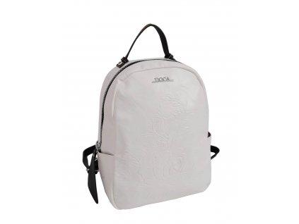 Dámsky ruksak doca 13261 biely 1 kabelky.sk