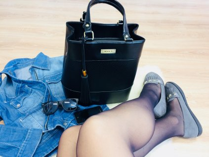 Dámska kabelka DOCA 13629 - čierna