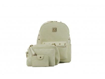 Dámsky ruksak lady krémový lady525 1 kabelky.sk