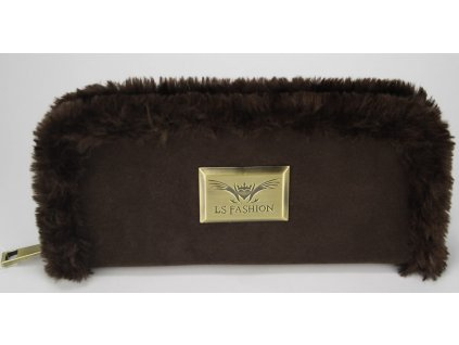 Peňaženka s kožušinou