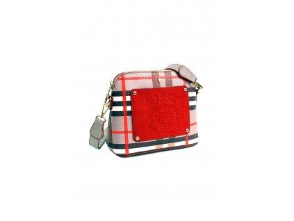 Crossbody kabelka DOCA 14322 béžová červená 1 kabelky.sk
