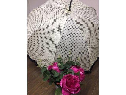Dámsky dáždnik Tom&Eva Dotty - krémový