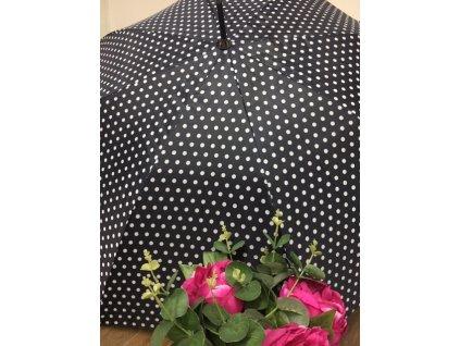 Dámsky dáždnik Tom&Eva Dots - čierny