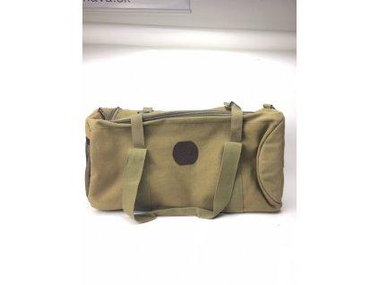 Pánska víkendová taška Baolilong - krémovo-hnedá