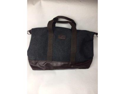 Pánska víkendová taška Kally 2 - čierno hnedá